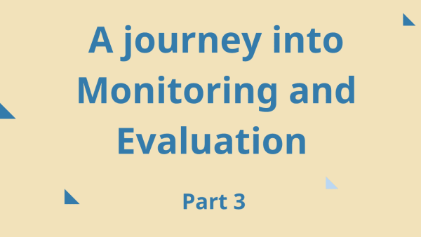 Monitoring and evaluation  blog 3